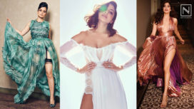 Leading Ladies of Bollywood Turning Up the Heat in Some Sultry Sky High Slit Gowns