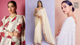 Bollywood Beauties Making a Statement in Graceful White Saris
