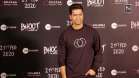 Vicky Kaushal and the team of Bhoot Part 1:The Haunted Ship at the Trailer Launch
