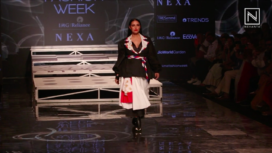 Neha Dhupia Walks the Ramp for Itishree Satpathy at LFW SR 20