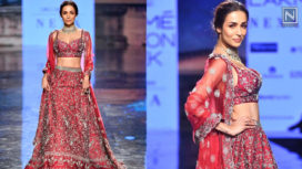 Malaika Arora Turns Bride for Varun Chakkilam at LFW SR 20