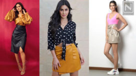 Bollywood Fashionistas Keep Things Chic in Leather Skirts