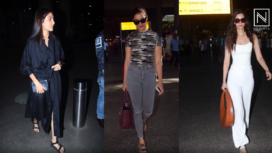 Bollywood Celebrities Making Fashion Statements at the Airport