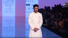 Amit Sadh Turns Showstopper for the label Tisa at Lakme Fashion Week SR 20