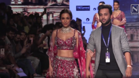 Malaika Arora Turns Muse to Varun Chakkilam at LFW SR 20