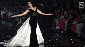 Nora Fatehi Sashays the Ramp for Gauri & Nainika at LFW SR 20