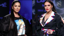 Designers and their Showstoppers : Sunny Leone and Neha Dhupia