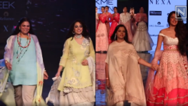 Designers and their Showstoppers : Nithya Menen and Rhea Chakraborty