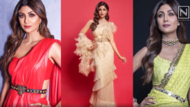 Contemporary Sari Looks of Shilpa Shetty