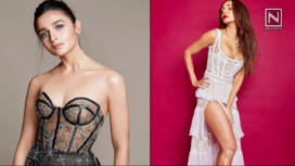 Bollywood Ladies Serve Voguish Looks in Cage Detailed Dresses