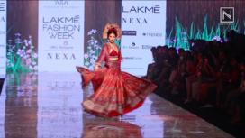 Amyra Dastur Walks for Rajdeep Ranawat at Lakme Fashion Week Summer Resort 2020