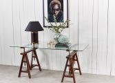 6100-58 trestle table brown 2