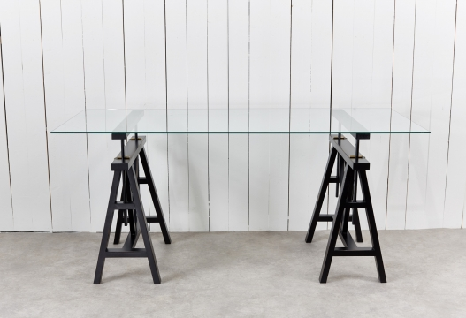 6100-60 trestle table black 2-2