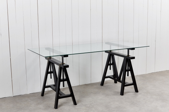 6100-60 trestle table black 3-2