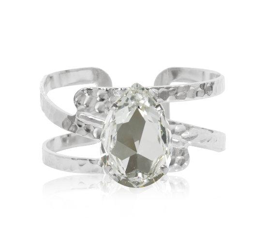 Listbild perfect-drop-bangle-crystal-rhodium