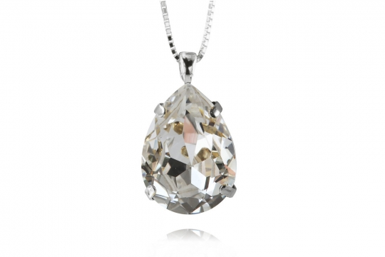 Webbild classic-drop-necklace-crystal-rhodium