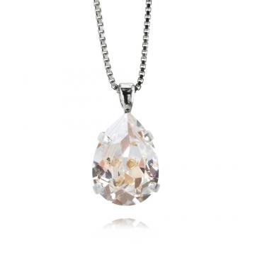 Minidropnecklace crystal rhodium