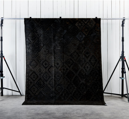 Listbild 203x290 kilim svart