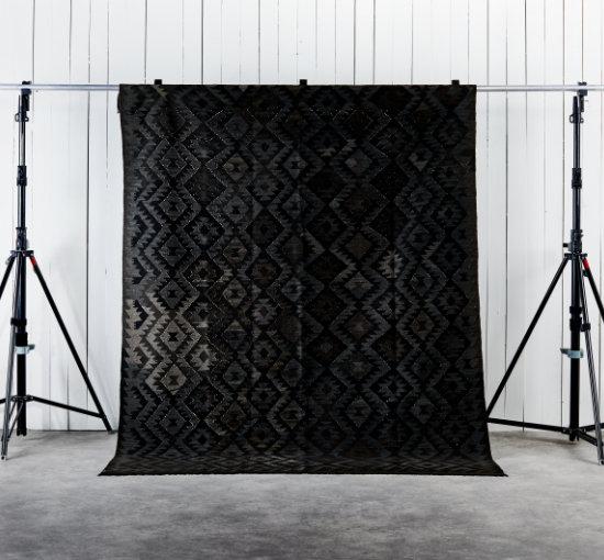 Listbild 211x287 kilim svart