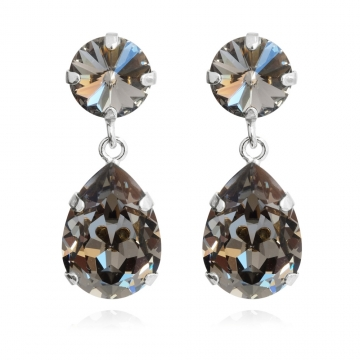 Classicdropearrings blackdiamond. rhodium