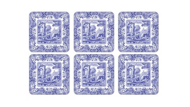 Coasters-spode-blue-italian