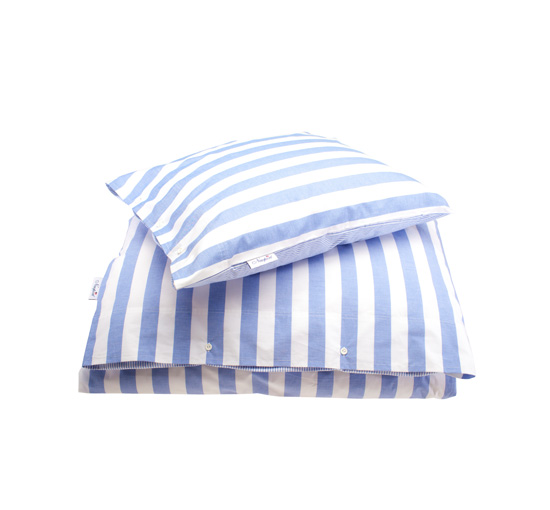 Newport bäddset big stripe blue 1