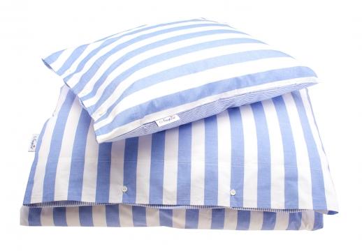 Newport bäddset big stripe blue 2