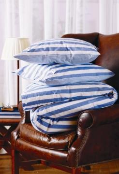 Newport bäddset big stripe blue 3