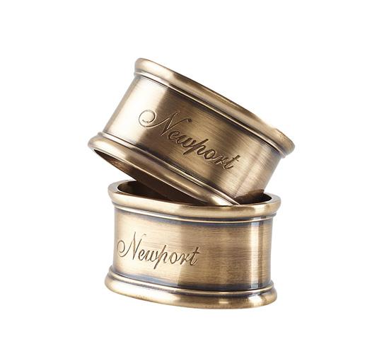 Listbild-servettring brass