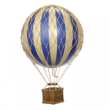 Blå luftballong floating