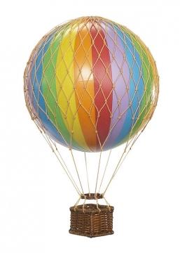 Regnbågsfärgad luftballong floating