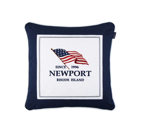 Seabrook flag pillow navy 1