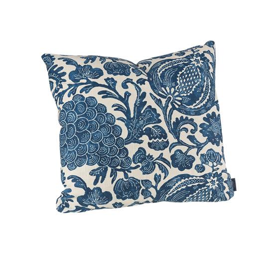 Kudde batik flower indigo 1