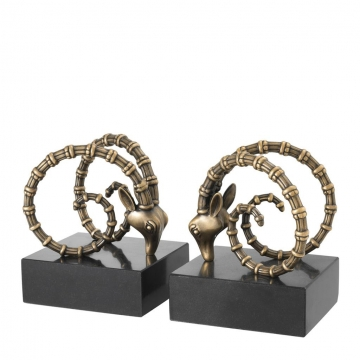Bookend-ibex-set-of-2-gold-2