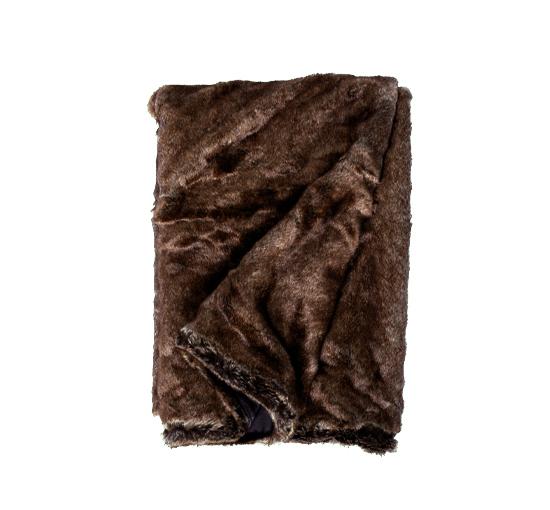 Aspen brun pälspläd3