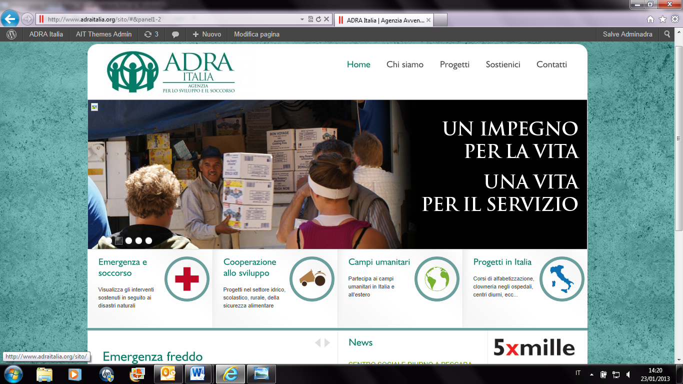 Home page ADRA