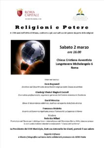 N8-Tavola rotonda Religioni e Potere