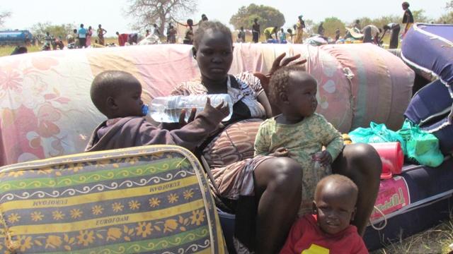 Ugandan mother and children