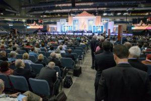 Delegates lined up