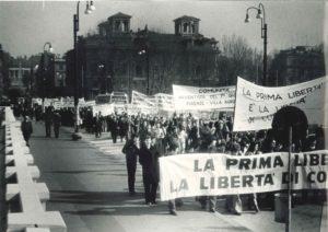 Manifestazione liberrta religiosa Roma 1977-2