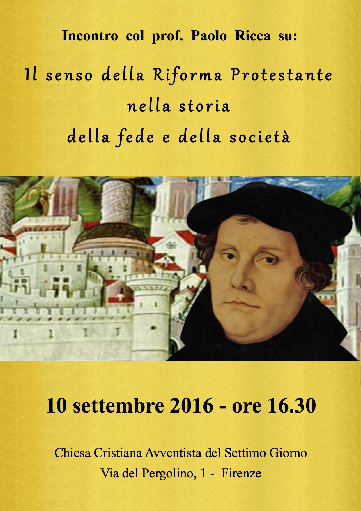 10 settembre 2016 - locandina Lutero - Firenze
