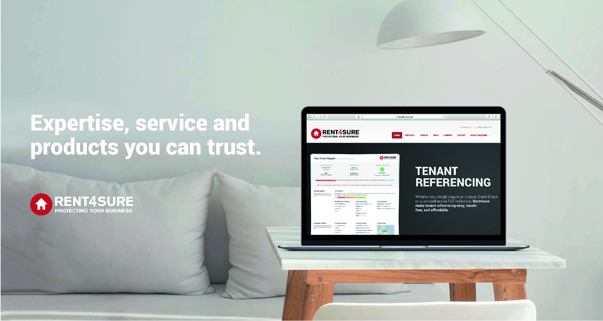 Quality referencing from Rent4sure - expertise, service and products you can trust.