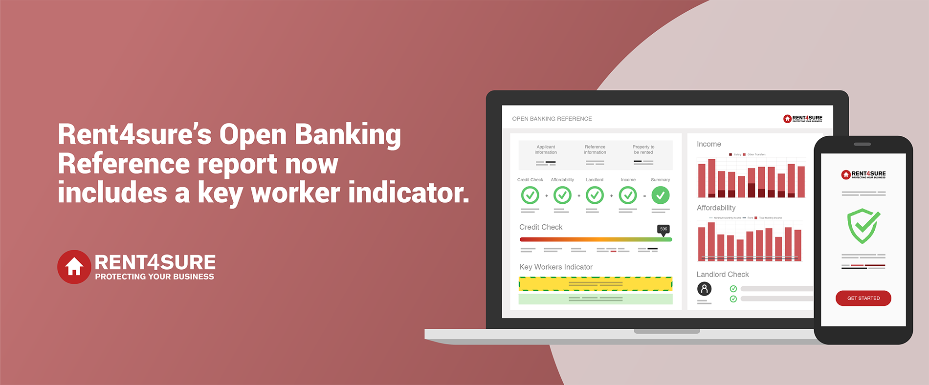 A key worker indicator is now included in Rent4sure's