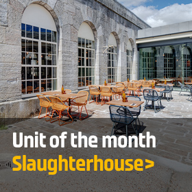 Unit of the month: Unit A & B, SLaughterhouse, Royal WIlliam Yard