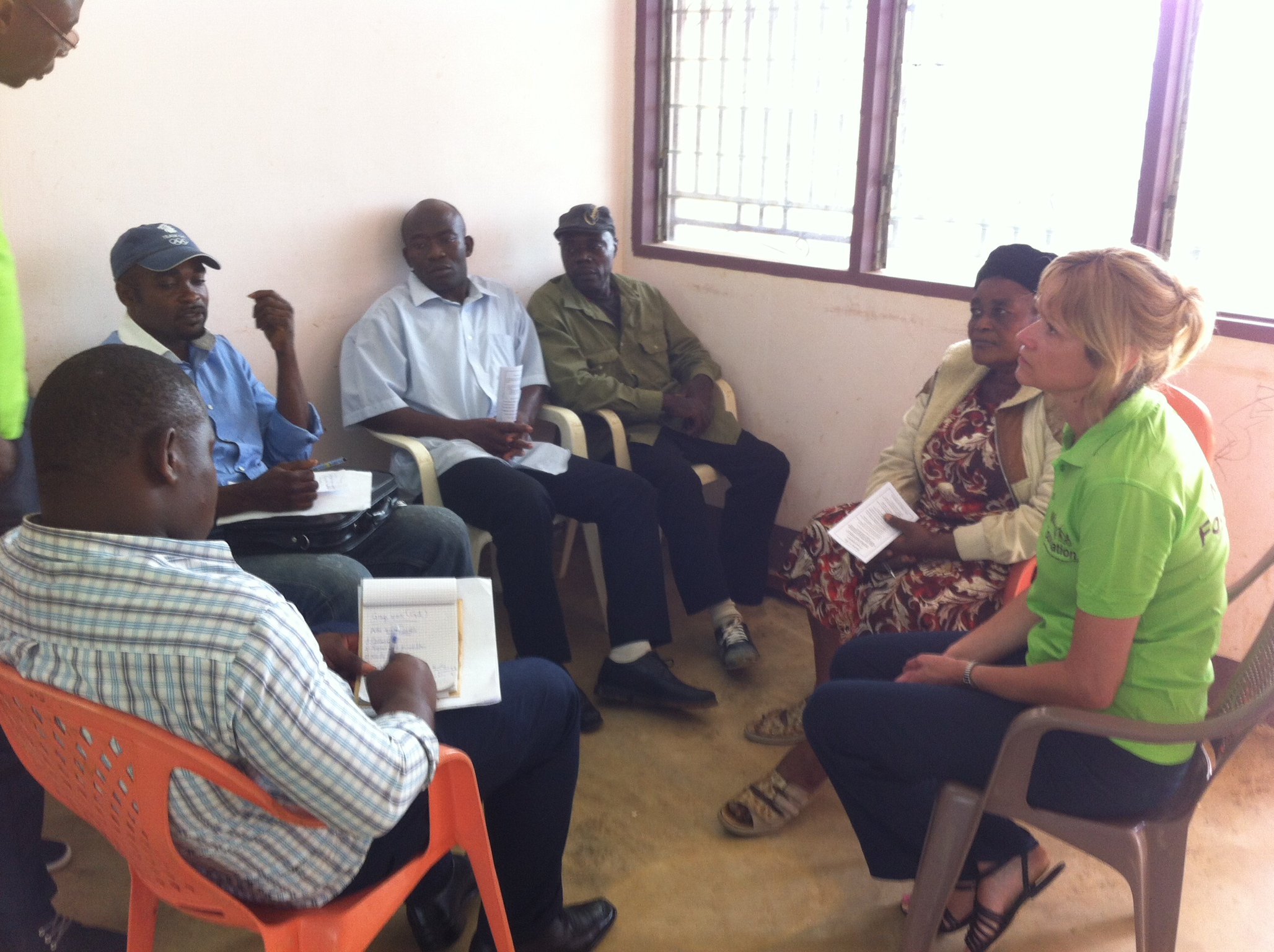 Group discussion with representatives from Nicky's Foundation