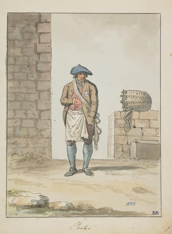 An Edinburgh Porter or Caddie