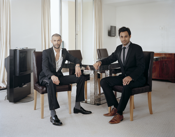 Atta Yaqub (right) with his Brother, London, 19 May 2011. From A Scottish Family Portraits series