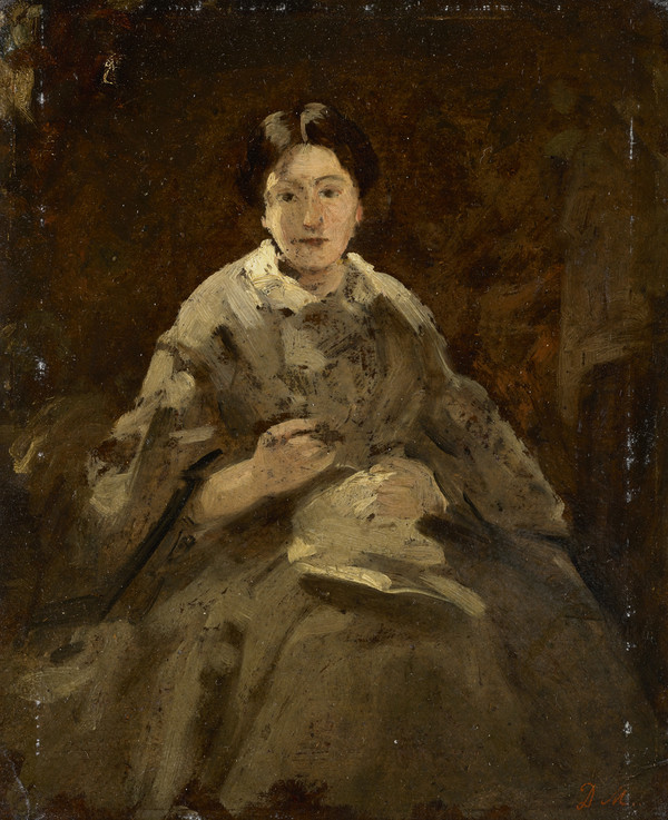 A Study for 'A Lady in Grey' (Isabella Macnee, Mrs Wiseman, the artist's daughter)