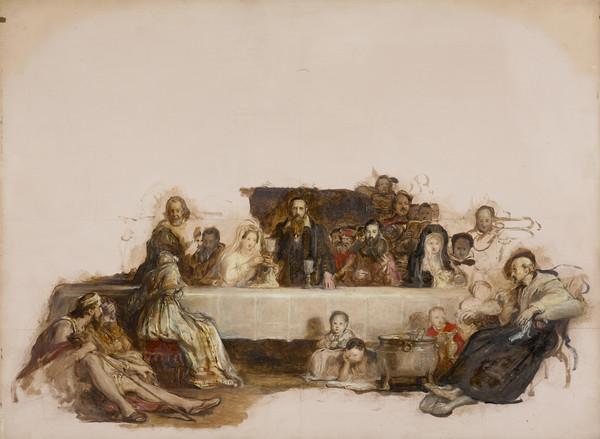 A Study for 'John Knox Dispensing the Sacrament at Calder House' (NG 323)