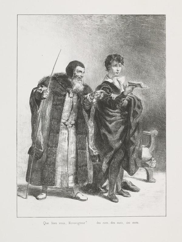 Polonius et Hamlet' (Polonius and Hamlet) (Act II, Scene II)